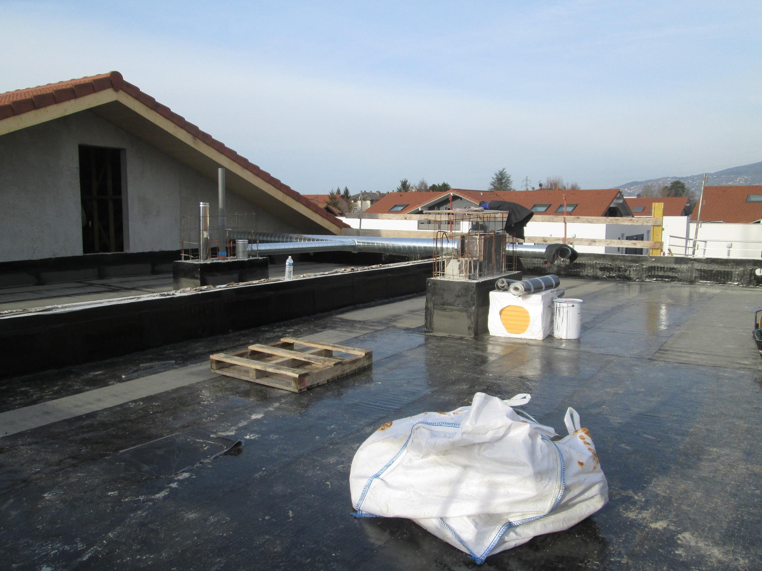Etanchéité sur toiture plate