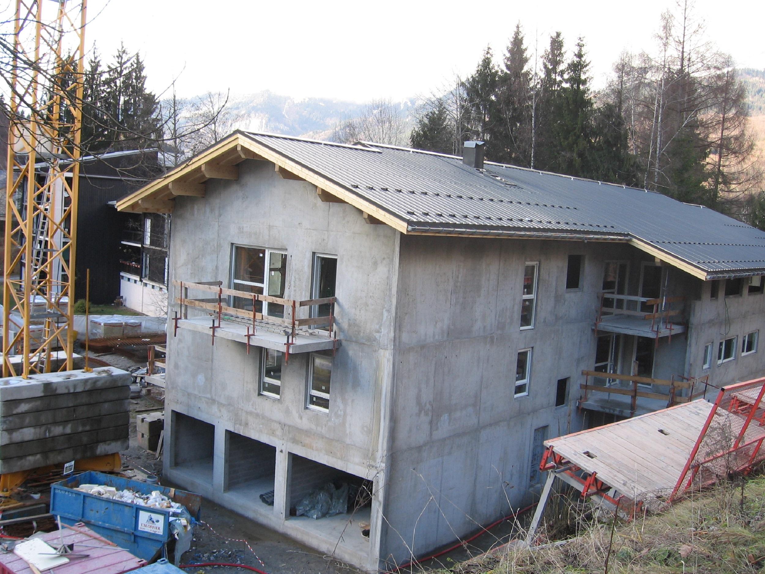 Bâtiment B, Charpente & Couverture