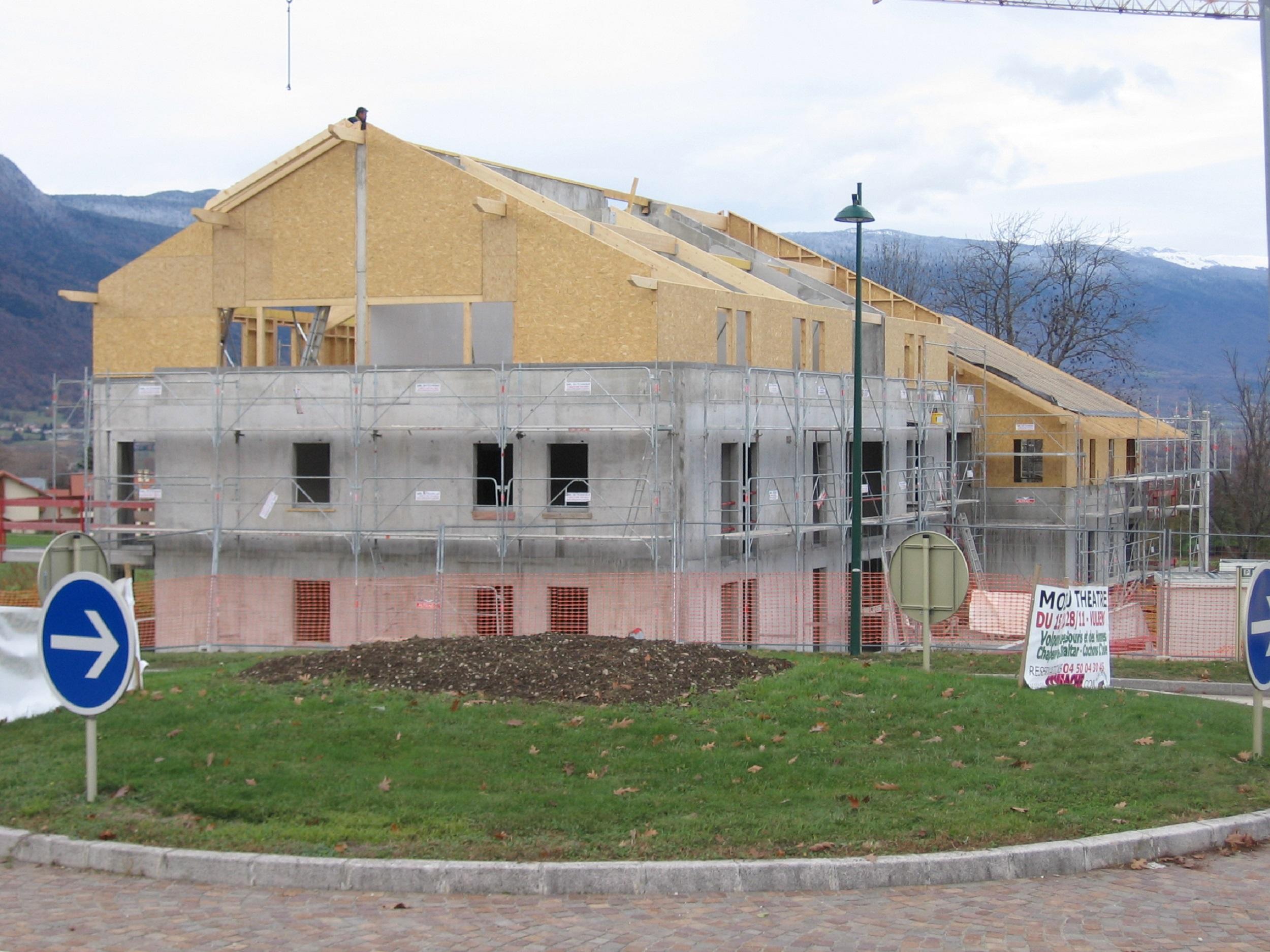 Bâtiment A, Ossature bois, Charpente & Couverture