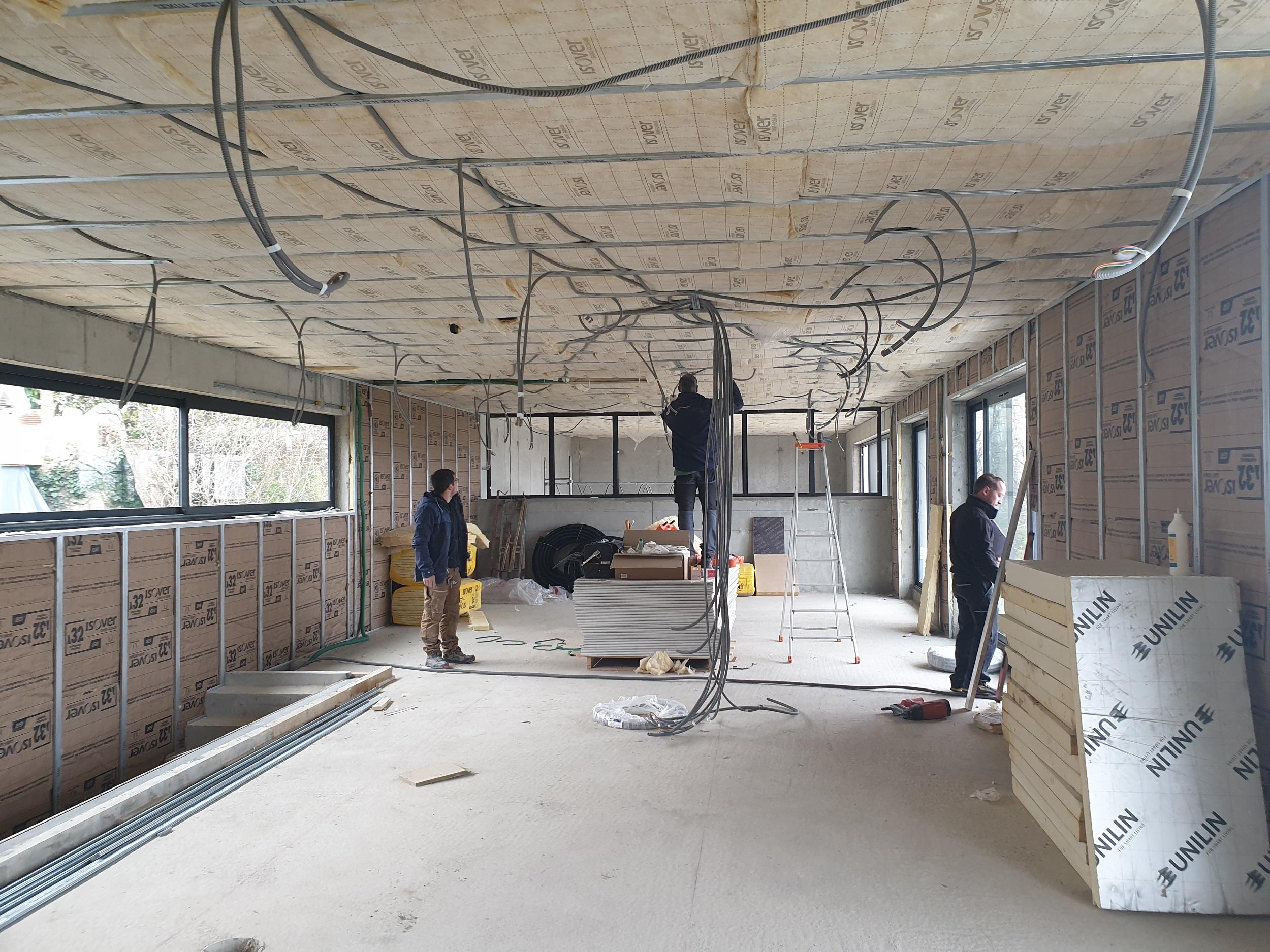 Faux-plafonds isolés & Doublages